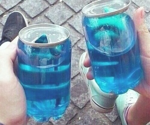blue, drink, and grunge image
