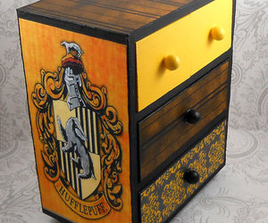 badger, box, and harry potter image