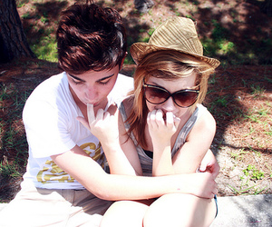 couple, girl, and cute image