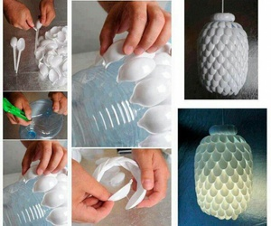 diy, lamp, and spoon image