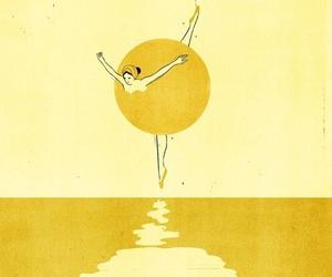 yellow, art, and dance image