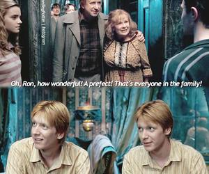 harry potter, molly weasley, and fred weasley image