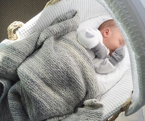 baby, grey, and sleep image