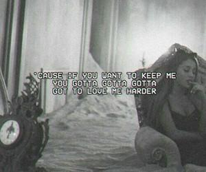 ariana grande, love me harder, and music image