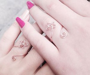 friendship, nails, and ring image
