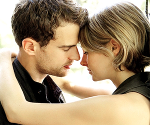 divergent, allegiant, and four image