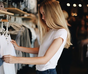 girl, shopping, and clothes image