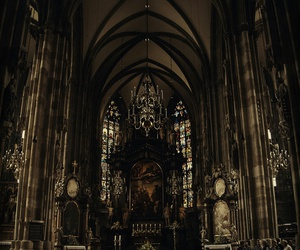 background, goth, and church image