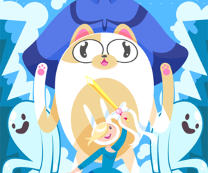 cake, ice queen, and adventure time image