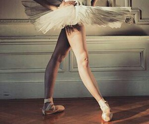 ballerina, ballet, and point shoes image