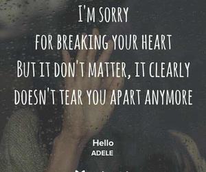 Adele, heartbreak, and hello image