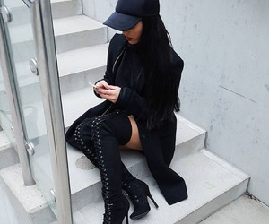 fashion, style, and black image