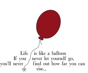 balloons, life, and quote image