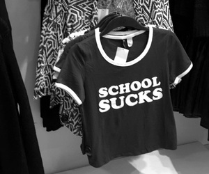 school, black, and truth image