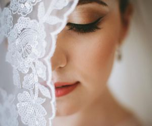 wedding, bride, and beautiful image