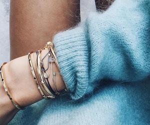 bracelets, tanned, and knit wear image