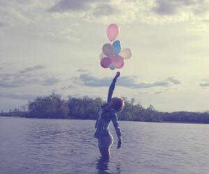 balloons, baloes, and lake image