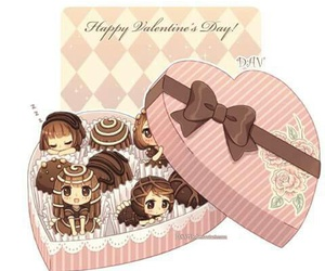 chocolate, anime, and chibi image