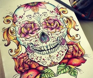 draw, art, and skull image