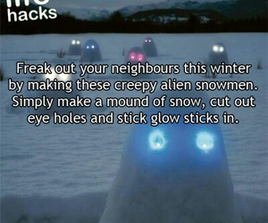 snowmen, winter, and life hacks image