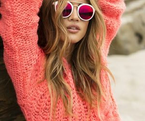 pink and sunglasses image