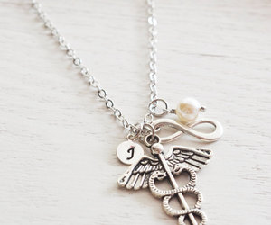 etsy, infinity necklace, and personalized jewelry image