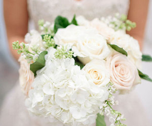 flowers, wedding, and roses image