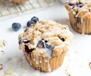 blueberry, muffin, and dessert image