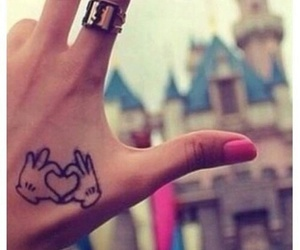 tattoo, disney, and heart image