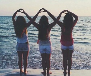 summer, beach, and bff image