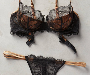 black, lingerie, and bra image
