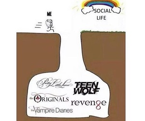 pretty little liars, social life, and teenwolf image