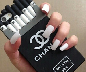 chanel, cigarette, and case image