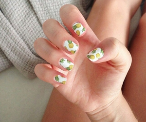 manicure, nails, and pineapple image