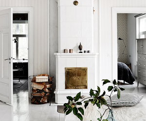 decorating, fireplace, and home image