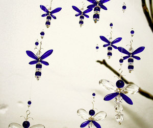 baby room, blue, and dragonfly image