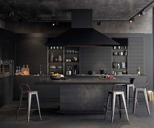 black, kitchen, and autumn image