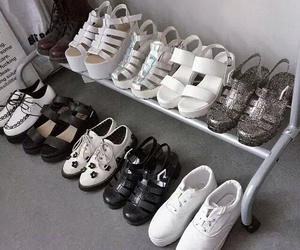 shoes, white, and black image