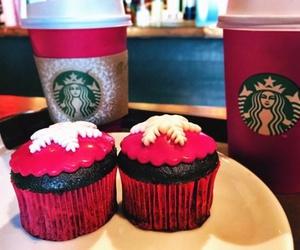 starbucks, cupcake, and snowflake image
