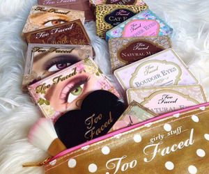 makeup, fashion, and too faced image