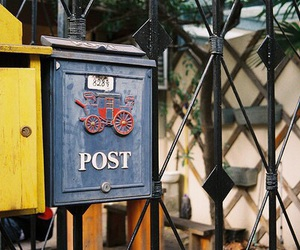 vintage, post, and yellow image
