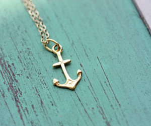 anchor, necklace, and blue image