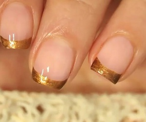 christmas, gold, and nails image