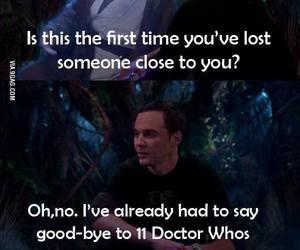doctor who, the big bang theory, and funny image