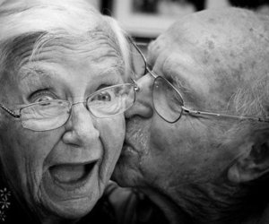 beautiful, emotion, and old couple image
