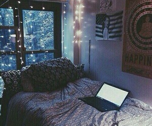 bed, bedroom, and calm image