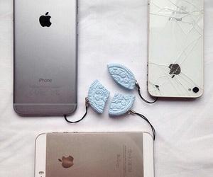 iphone, apple, and oreo image