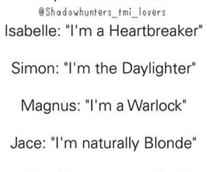 simon, shadowhunters, and book image