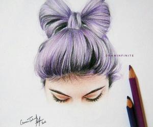 art, purple, and hair image