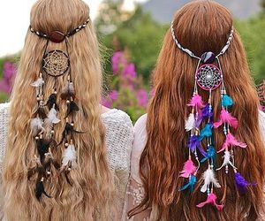 dreamcatcher, fashion, and hair style image